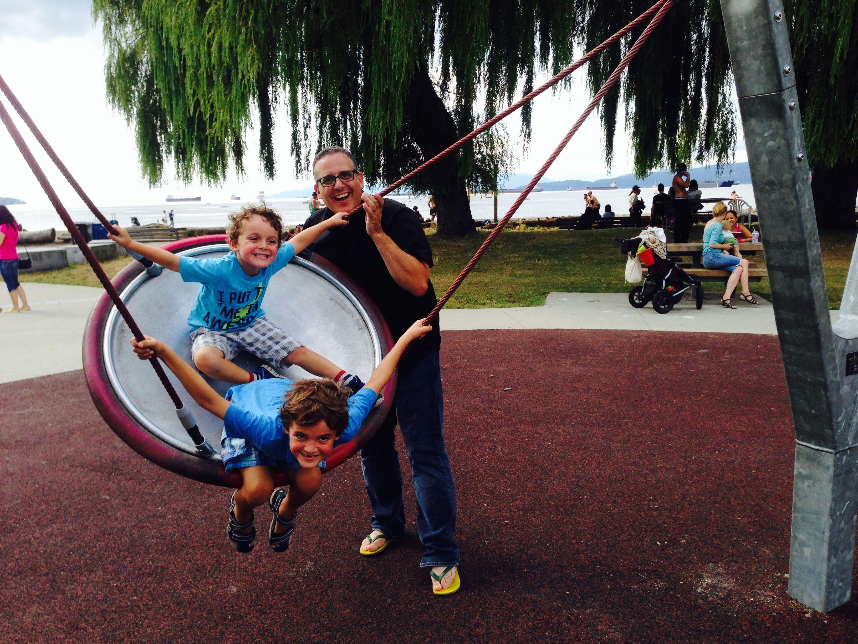 Buzz Bishop, Charlie, Zacharie at DadCAMP