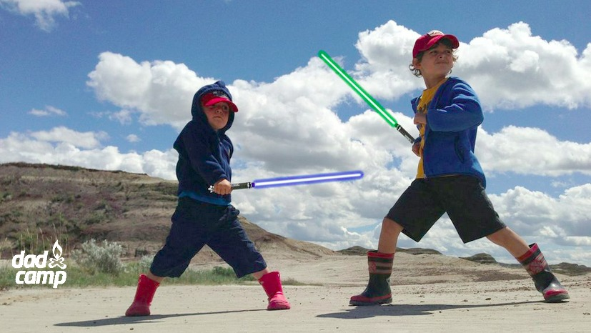 DadCAMP lightsaber