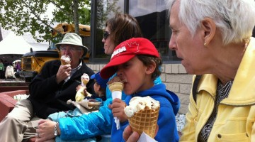 Ice cream with the grandparents