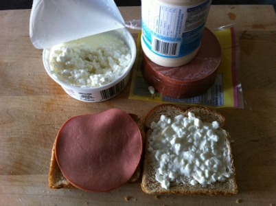 bologna-mayo-and-cottage-cheese