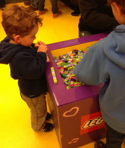 boys playing with lego friends