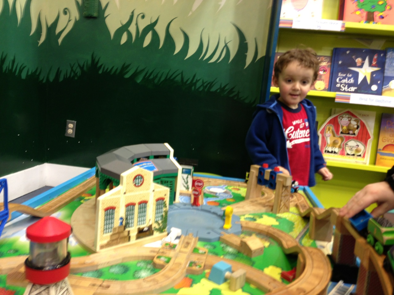 playing at the bookstore