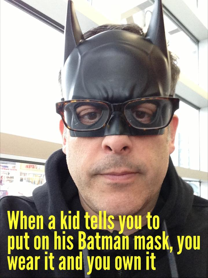 batman and glasses