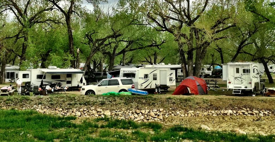 campers village at dinosaur
