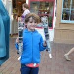 buying light sabres at disneyland