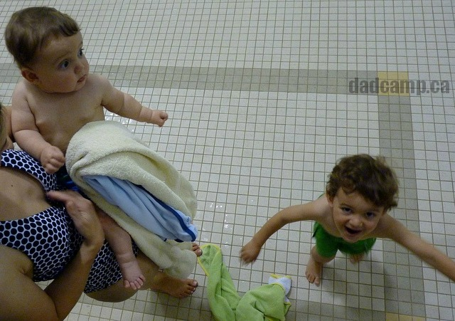 kids at the pool