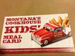 kids meal club Montana's