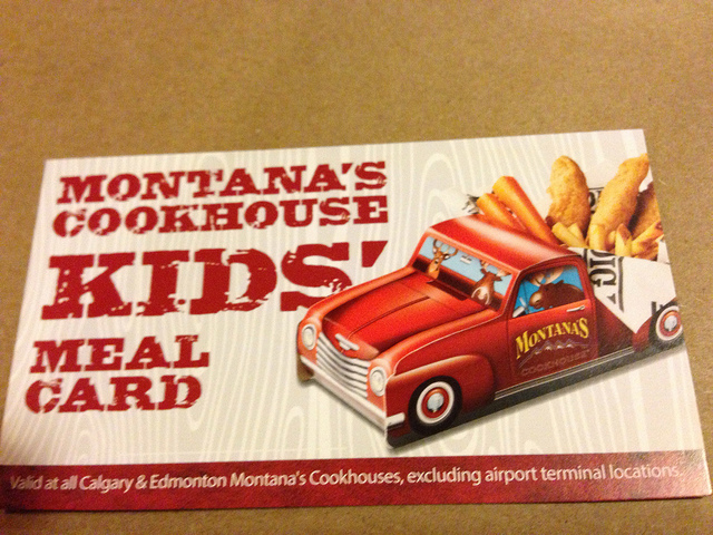kids meal club Montana's
