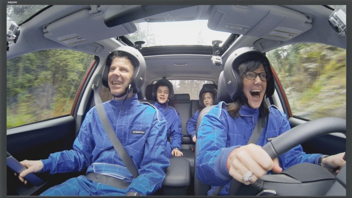 subaru forester family road rally
