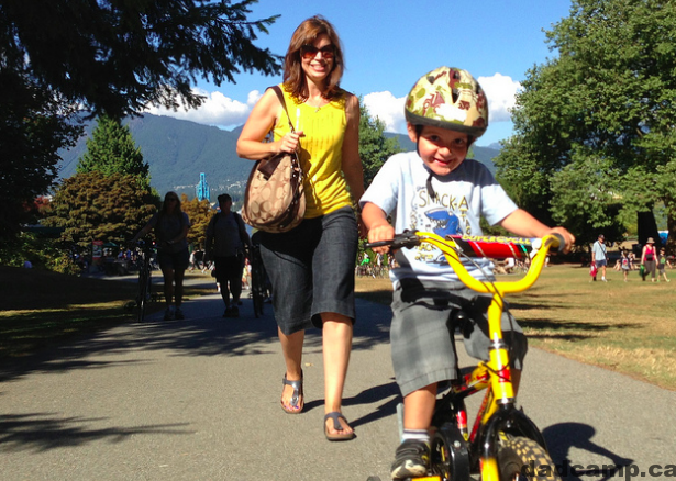 riding bikes at stanley park