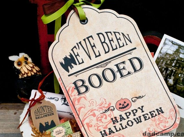 We've Been Boo'd free printables for Halloween