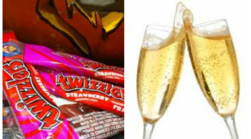 Champagne and Twizzlers