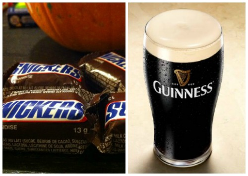 Snickers and Guinness