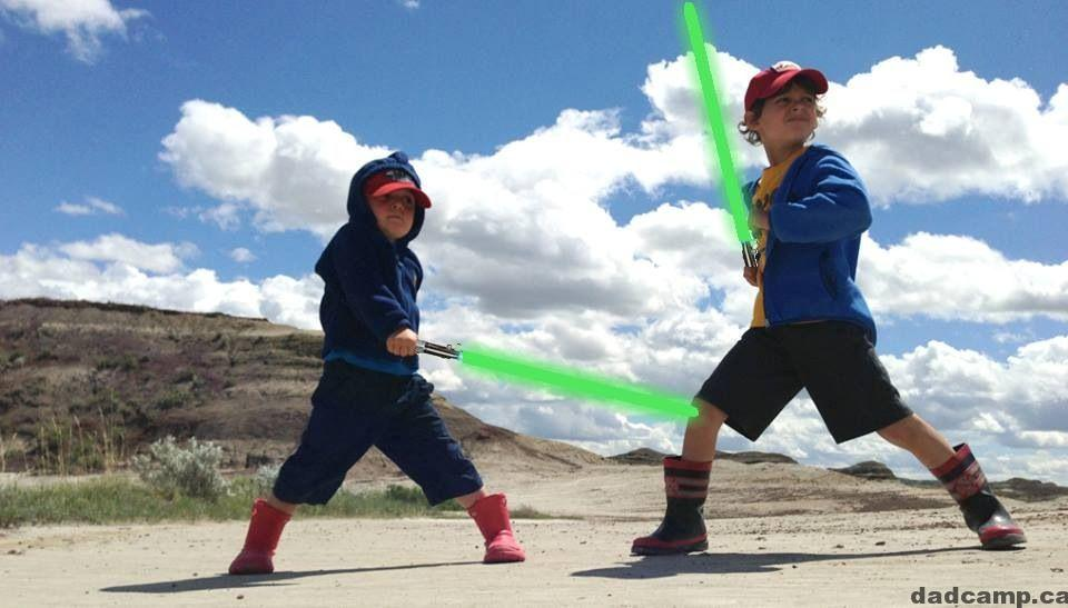 Star Wars at Dinosaur Provincial Park