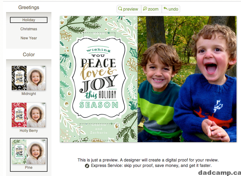 minted christmas card templates