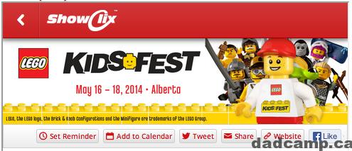 Lego KidsFest Calgary Tickets