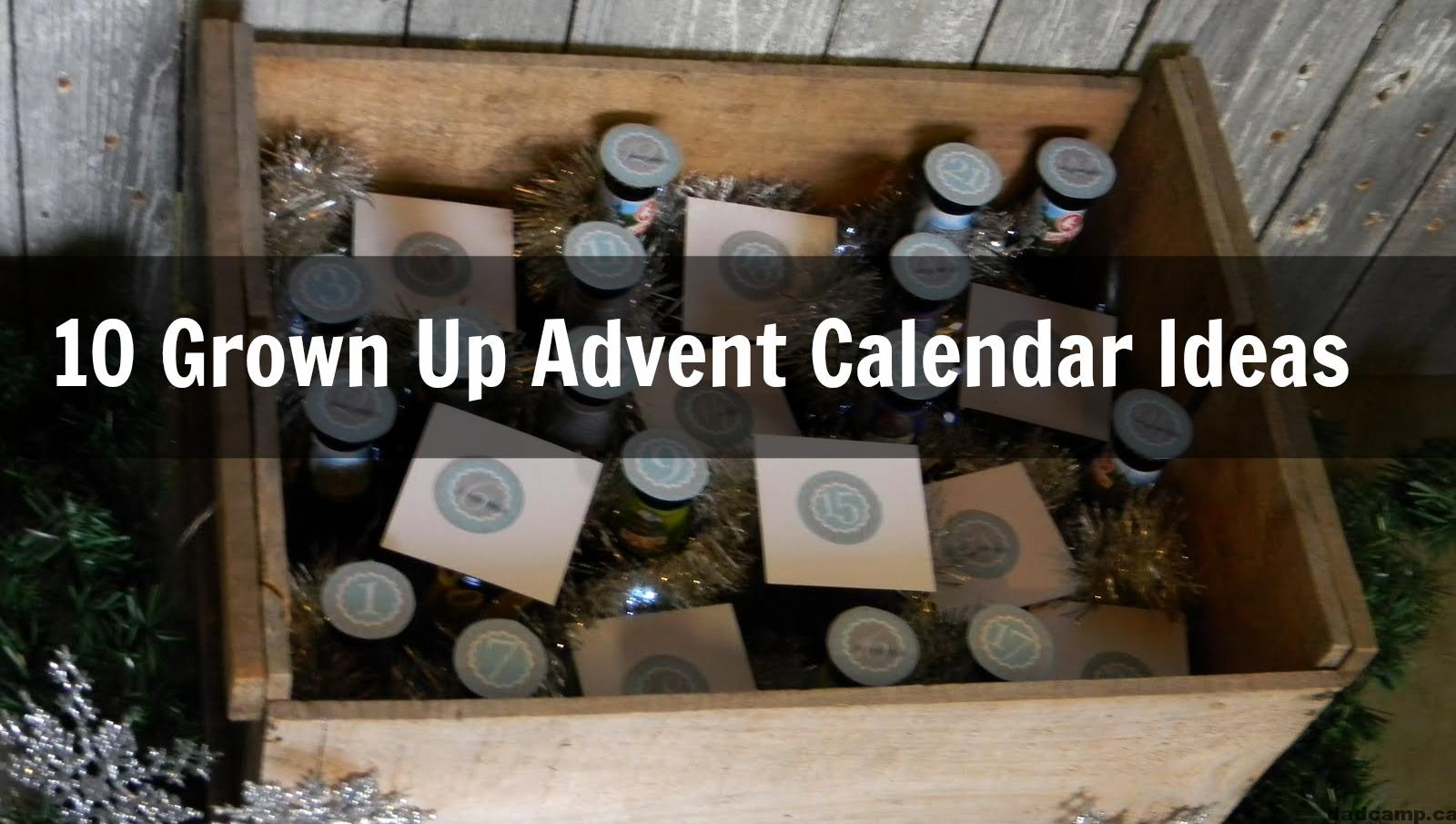 Grown Up Advent Calendar Ideas