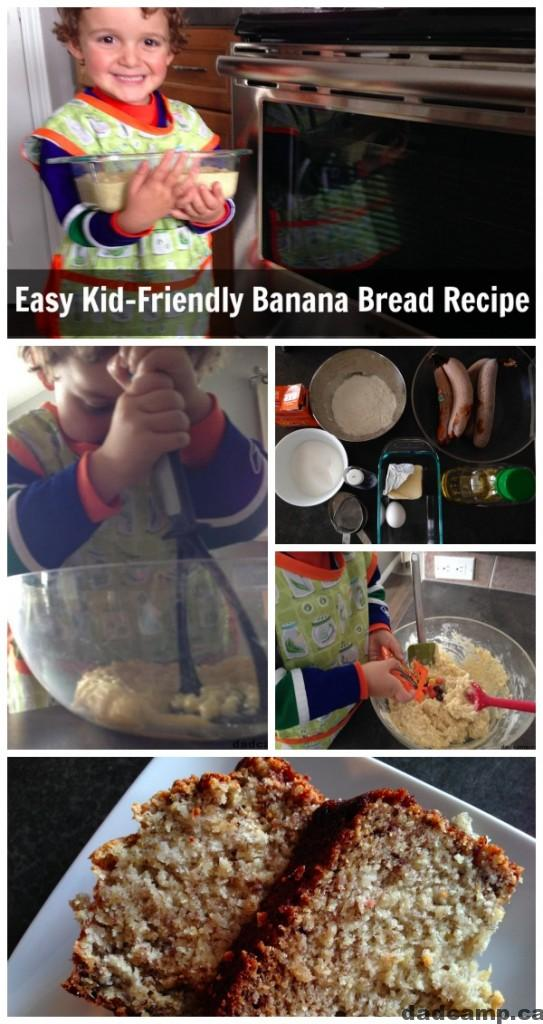 Easy Kid Friendly Banana Bread Recipe