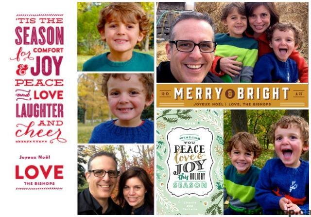 Family Christmas Card Templates
