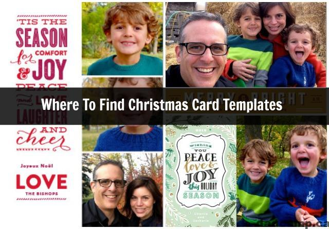 Where To Find Christmas Card Templates