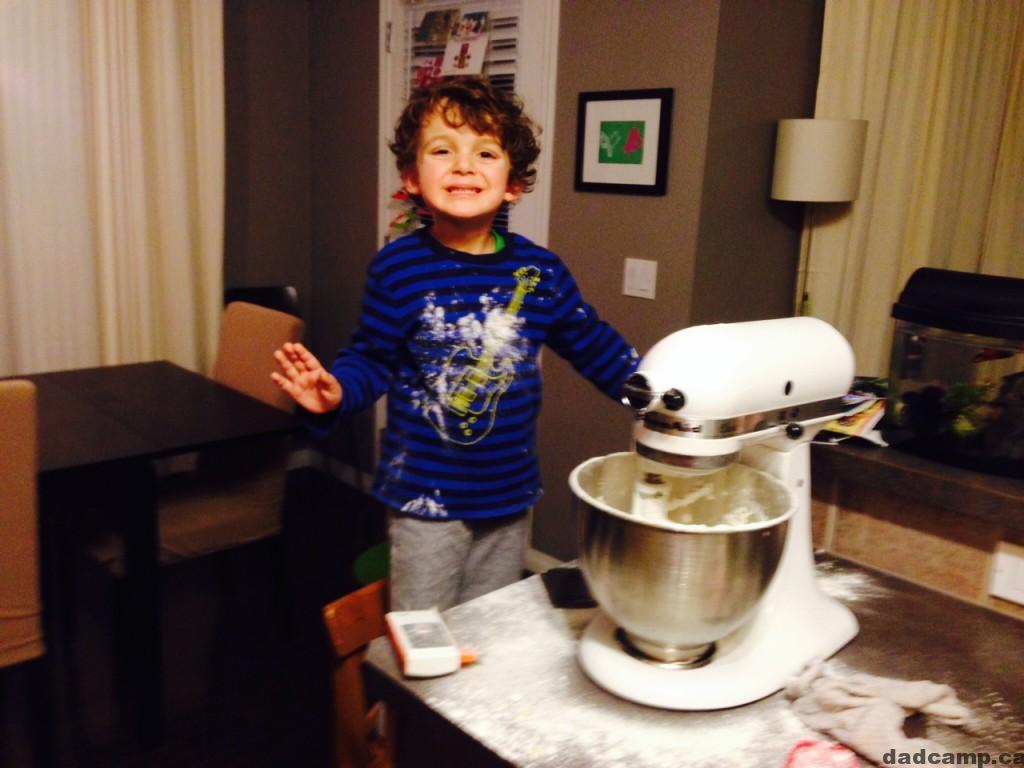 Charlie making Christmas cookies