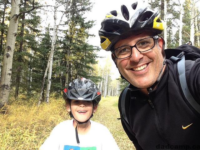 mountain biking with zacharie