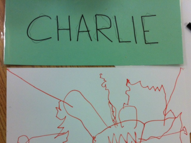 Charlie Writes His Name
