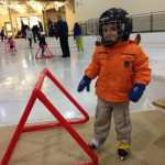 December 16 - Learning to skate with your new helmet.