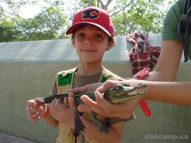 Holding Croc at El Salado - DadCAMP