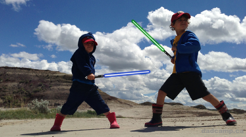 How To Add Lightsabers To Photos - DadCAMP