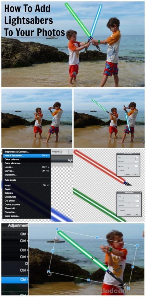 How To Add Lightsabers To Your Photos - DadCAMP