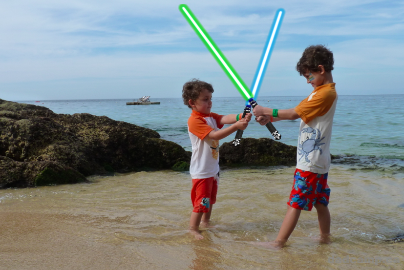 Lightsaber Battle In Mexico