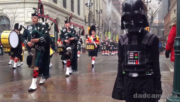 Darth Vader Watches A Parade