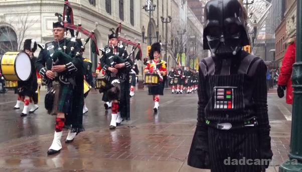 Darth Vader Watches A Parade
