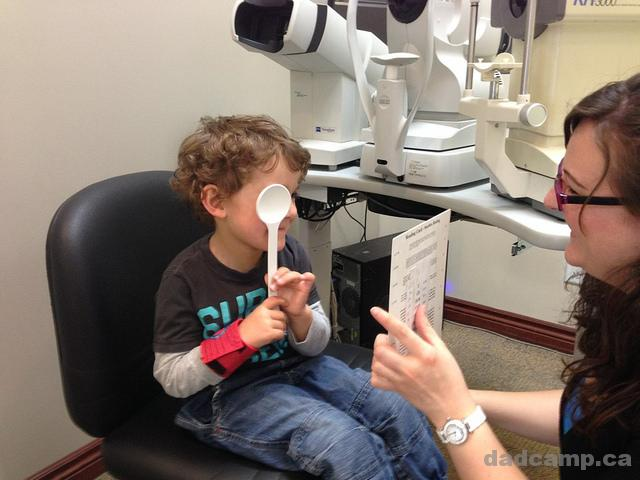 Kids Getting Eye Exams
