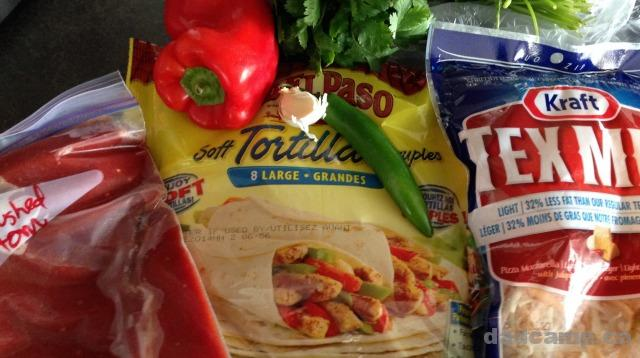 Chicken Enchilada ingredients