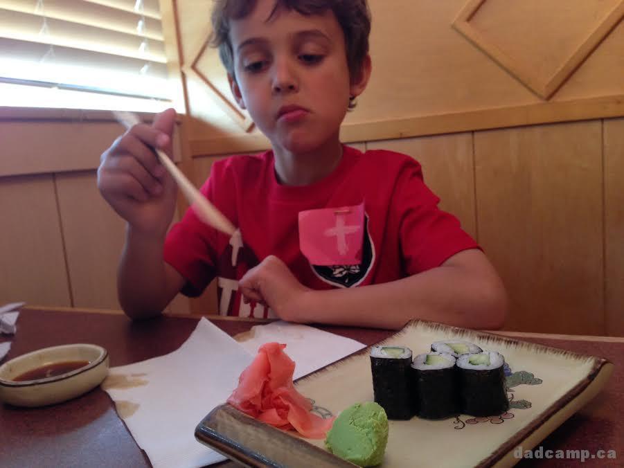 Zacharie and chopsticks