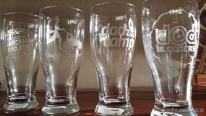 Dad Blogger Logo Beer Glasses