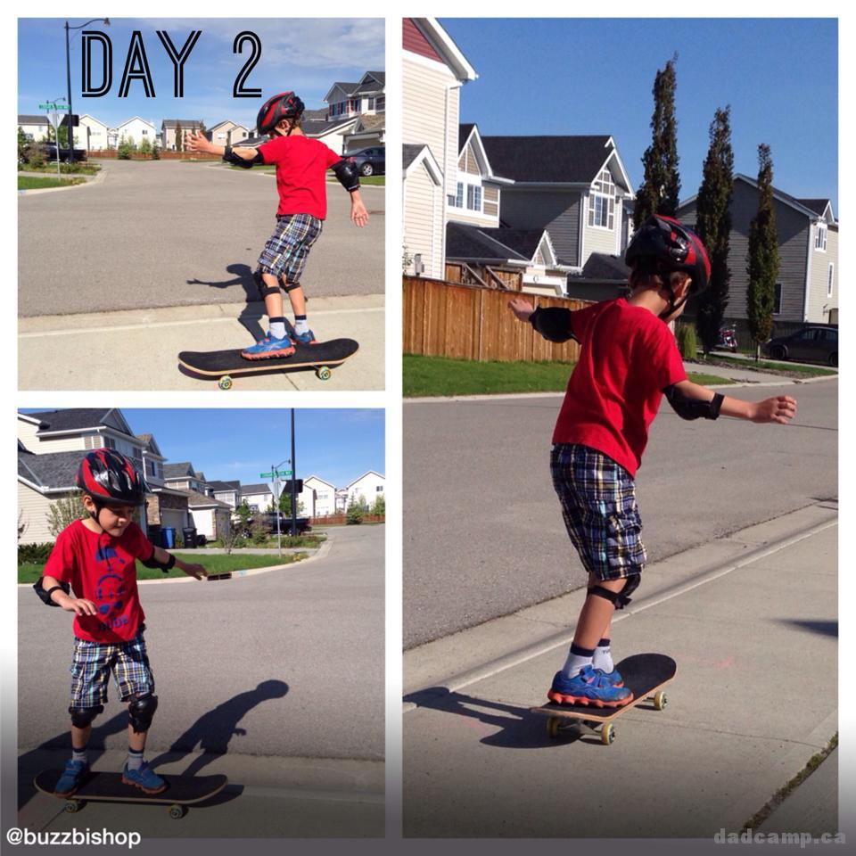 Zacharie Day 2 Skateboarding