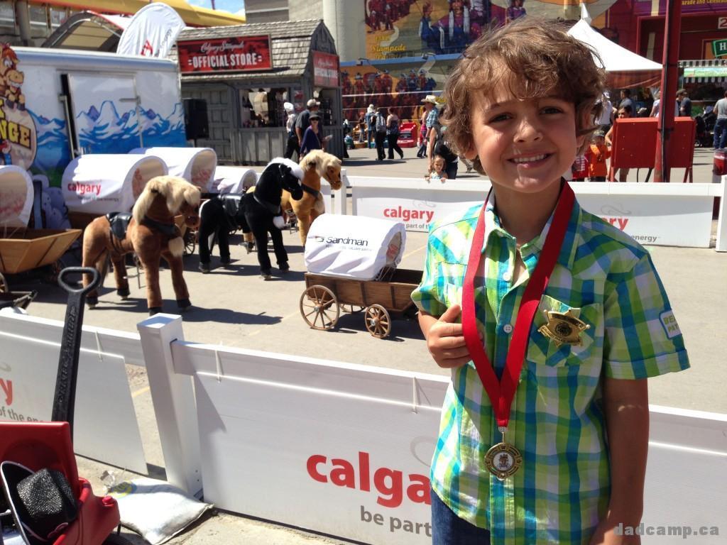 Zacharie Wins Chuck Wagon Race - DadCAMP