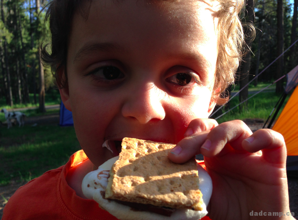 Charlie Having S'Mores - DadCAMP