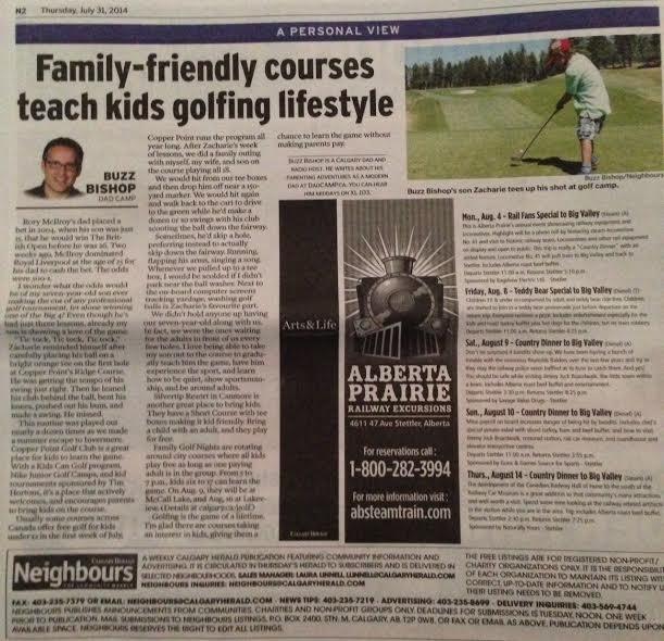 Calgary Herald golfing