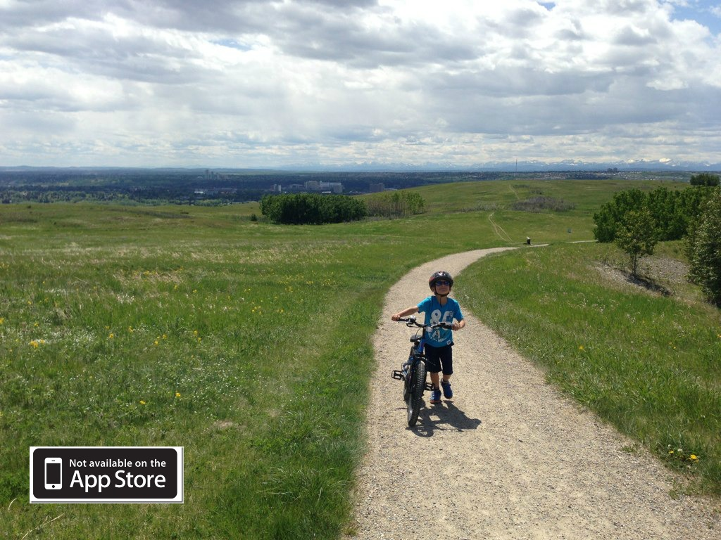 Cycling Nose Hill - DadCAMP