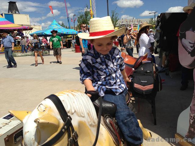 Charlie On A Saddle - DadCAMP