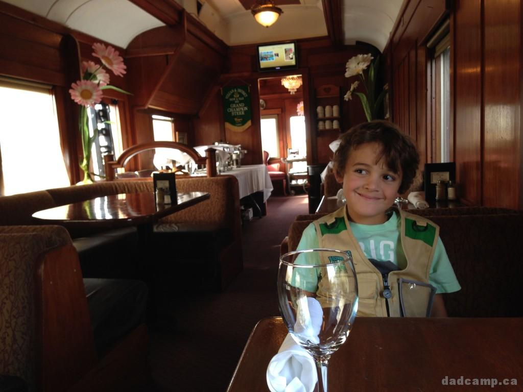Train car diner in Aspen Crossing
