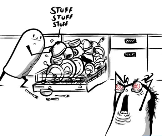 Oatmeal Load a Dishwasher Comic