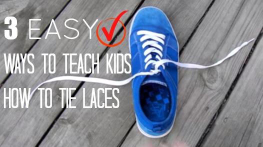 3 Ways To Teach Kids To Tie laces