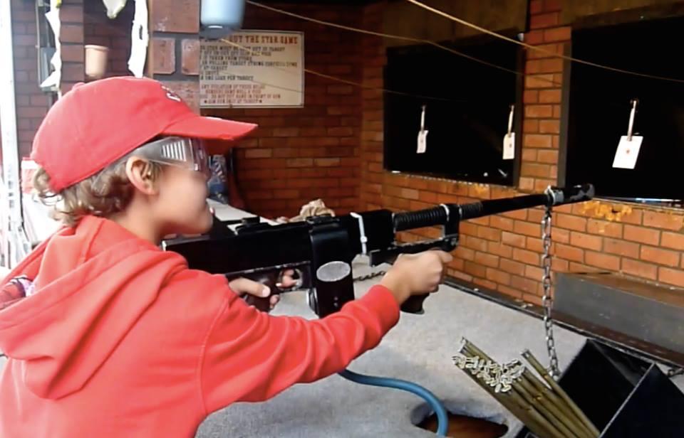 Firing A Gun at Taber Cornfest
