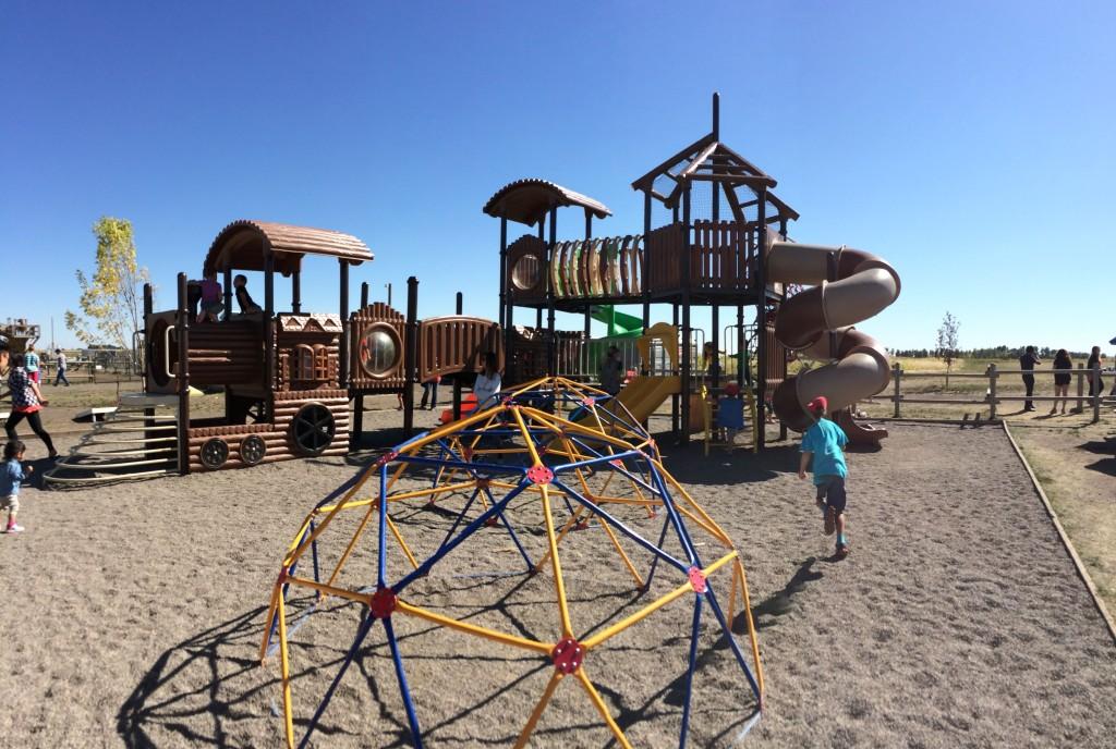 playground at Calgary Corn Maze