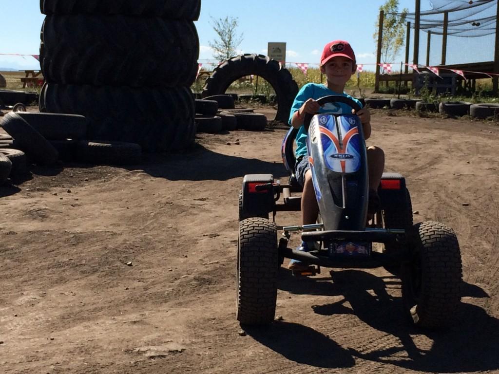Bike race at Calgary Corn Maze